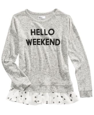 Big Girls Hello Weekend Top, Created For Macy's