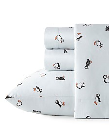 Poppy & Fritz Puffin Paradise Twin Extra Long Sheet Set