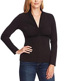 Ruched Sparkle Top