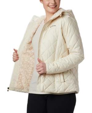Plus Size Copper Crest Hooded Quilted Jacket