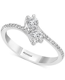 EFFY® Diamond By-Pass Ring (1/2 ct. t.w.) in 14k White Gold