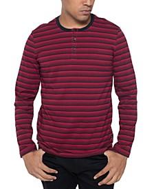 Men's Striped Henley Shirt