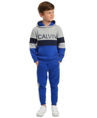 Little Boys Rugby Side Stripe Fleece Joggers