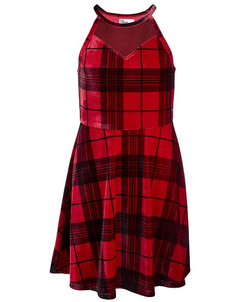 Epic Threads Big Girls Sweetheart Plaid Dress, Created For Macy's