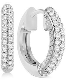 Diamond Hoop Earrings (1/4 ct. t.w.) in 14k White Gold or 14k Gold