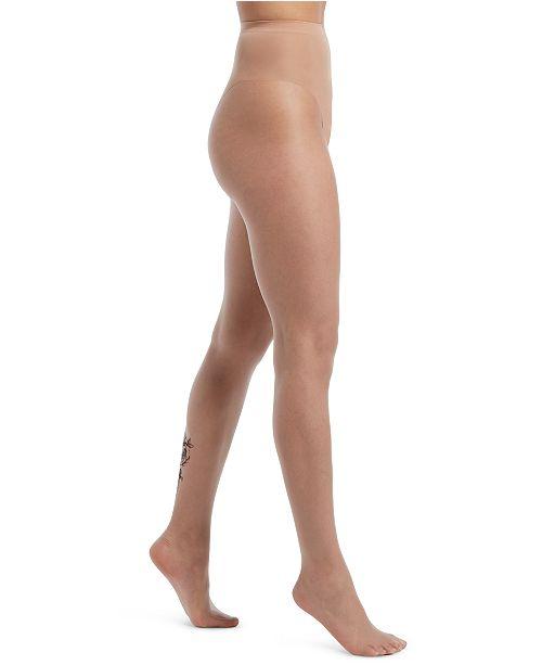 Hue Women's Rose-Tattoo Sheer Tights