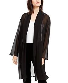 Semi-Sheer Kimono Jacket