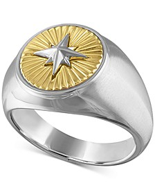 Two-Tone North Star Ring in Sterling Silver & 14k Gold-Plate, Created For Macy's