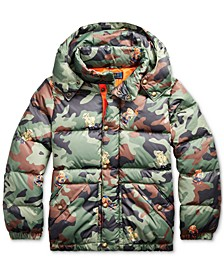 Big Boys Hawthorne Bear Graphic Camo Jacket