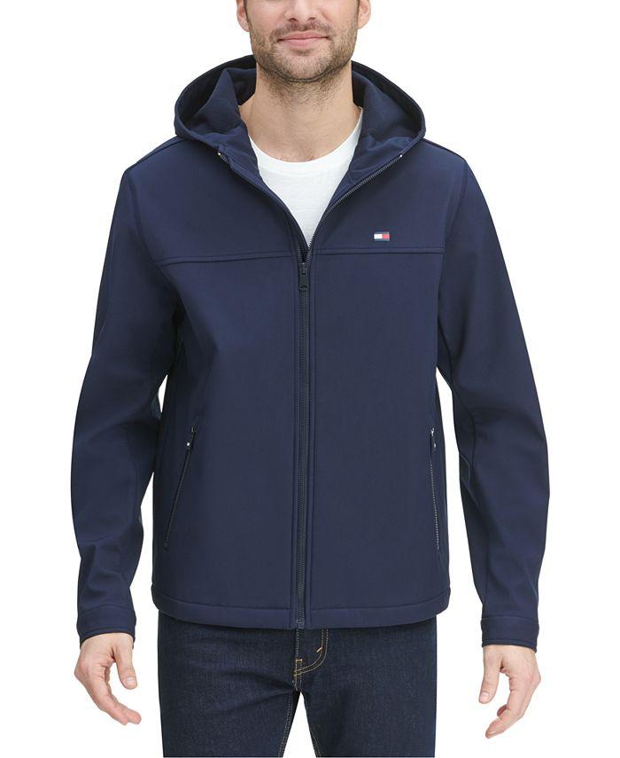 Tommy Hilfiger Men's Logo Graphic Hooded Soft-Shell Jacket