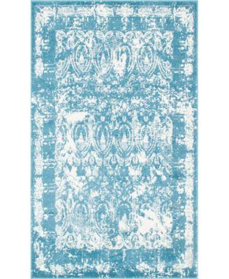 Mishti Mis3 Blue 5' x 8' Area Rug