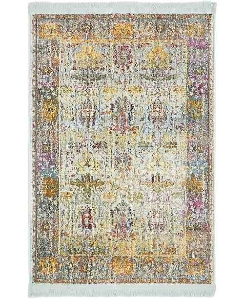 Bridgeport Home Kenna Ken1 Light Blue Area Rug Collection