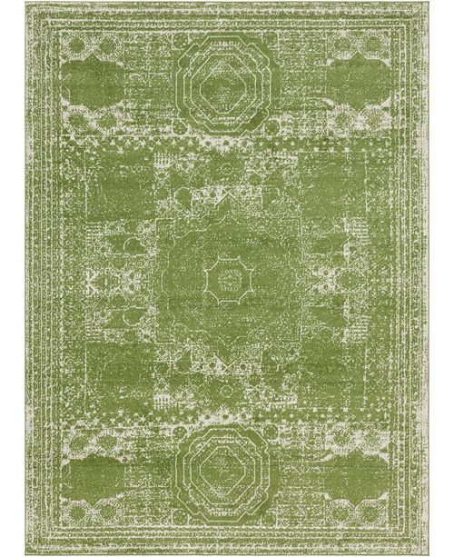 Bridgeport Home Mobley Mob2 Green Area Rug Collection