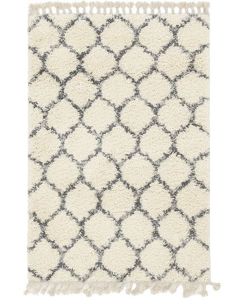 Bridgeport Home Lochcort Shag Loc1 Ivory Area Rug Collection