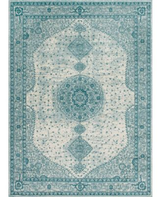 Mobley Mob1 Turquoise 4' x 6' Area Rug