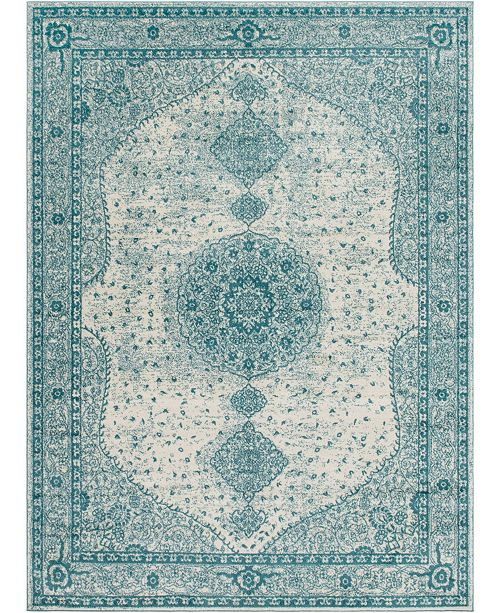 Bridgeport Home Mobley Mob1 Turquoise Area Rug Collection