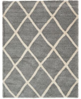Latisse Shag Lts1 Gray 5' x 8' Area Rug