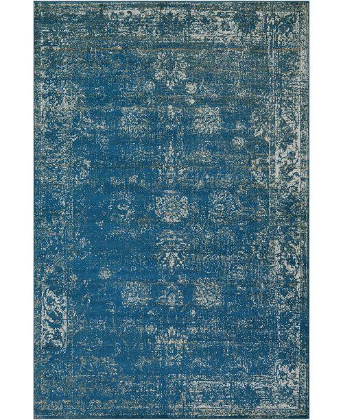 Bridgeport Home Basha Bas1 Blue Area Rug Collection