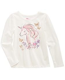 Little Girls Unicorn Flower T-Shirt, Created For Macy's