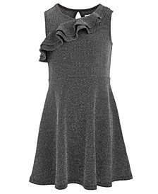 Toddler Girls Ruffle-Front Metallic Dress, Created For Macy's