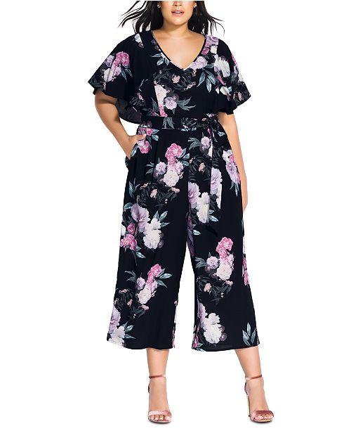 City Chic Trendy Plus Size Garden Jumpsuit
