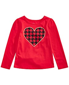 Epic Threads Little Girls Houndstooth Heart T-Shirt, Created For Macy's