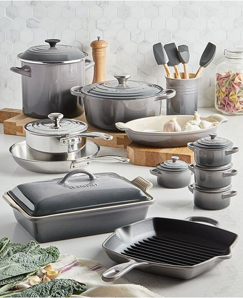Le Creuset Multi-Materials 20-Pc. Cookware Set, Created for Macy's &  Reviews - Cookware - Kitchen - Macy's