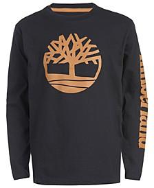 Little Boys Epsom Black Logo T-Shirt