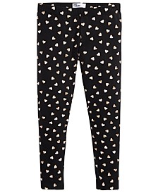 Toddler Girls Metallic Heart-Print Leggings, Created For Macy's