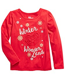 Toddler Girls Winter Wonderland Embellished T-Shirt, Created For Macy's