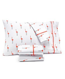 Novelty Print Queen 4-Pc. Sheet Set, 250 Thread Count 100% Cotton, Created for Macy's