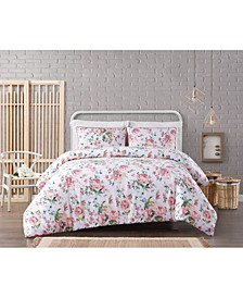 Cottage Classics Blooms Floral 3-Piece Comforter Set - Full/Queen