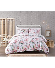 Cottage Classics Blooms Floral Seersucker Comforter Set