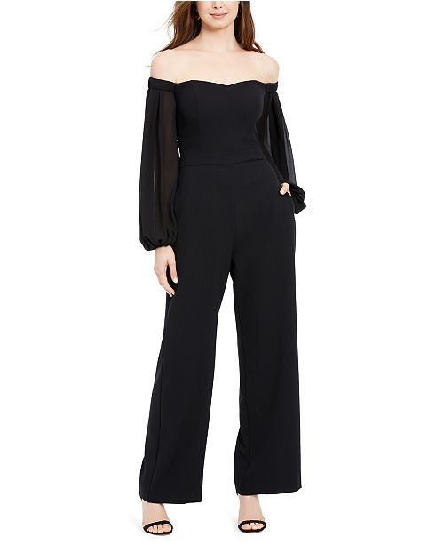 Vince Camuto Petite Off-The-Shoulder Jumpsuit