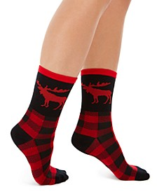 Women's Moose Crew Socks, Created for Macy's