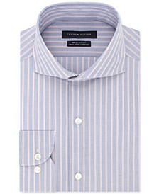 Men's Classic/Regular-Fit Non-Iron THFlex Stretch Stripe Dress Shirt