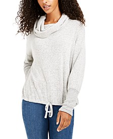 Juniors' Cozy Funnel-Neck Pullover