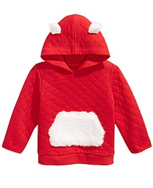 Baby Boys Faux-Fur-Trim Quilted Hoodie, Created For Macy's
