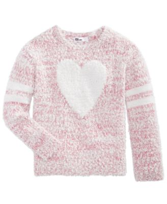Toddler Girls Fuzzy Heart Sweater, Created For Macy's