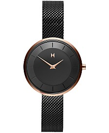 MVMT Women's Mod RB3 Black Stainless Steel Mesh Bracelet Watch 32mm