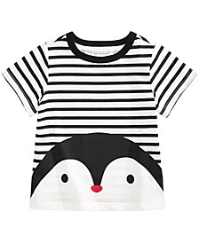 Baby Boys Cotton Striped Penguin T-Shirt, Created For Macy's