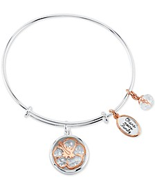 Lilo and Stitch Shaker Bangle Bracelet in Two-Tone Stainless Steel