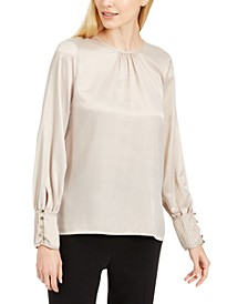 Button-Cuff Top