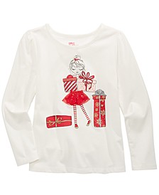 Little Girls Glitter Gift T-Shirt, Created For Macy's