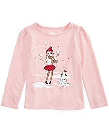 Little Girls Snow Girls T-Shirt, Created For Macy's