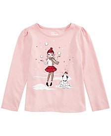 Epic Threads Little Girls Snow Girls T-Shirt, Created For Macy's