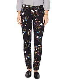 Printed Tummy-Control Alina Skinny Jeans