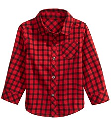 Baby Boys Cotton Check Shirt, Created For Macy's