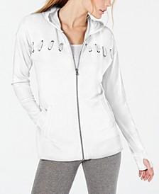 Lace-Up Zip Hoodie, Created for Macy's