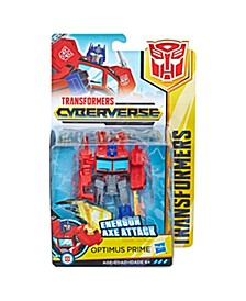 CLOSEOUT! Toys Cyberverse Action Attackers Warrior Class Optimus Prime Action Figure -- Repeatable Energon Axe Attack Move – For Kids Ages 6 and Up, 5.4-inch